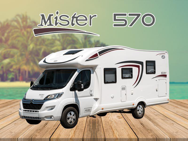 Autocaravana Mister 570 alquiler