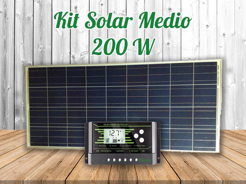 Kit Solar Autocaravana Medio 200w