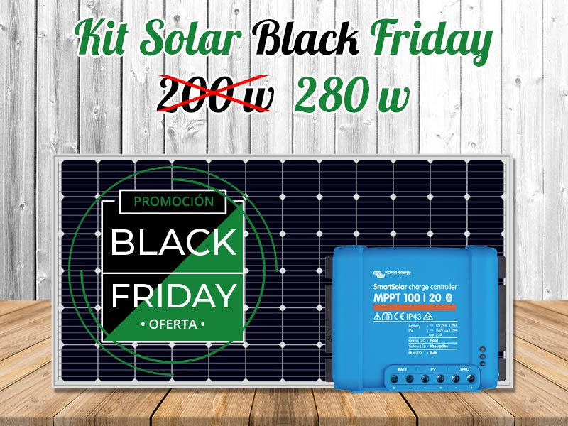 Black Friday Kit Solar Autocaravanas