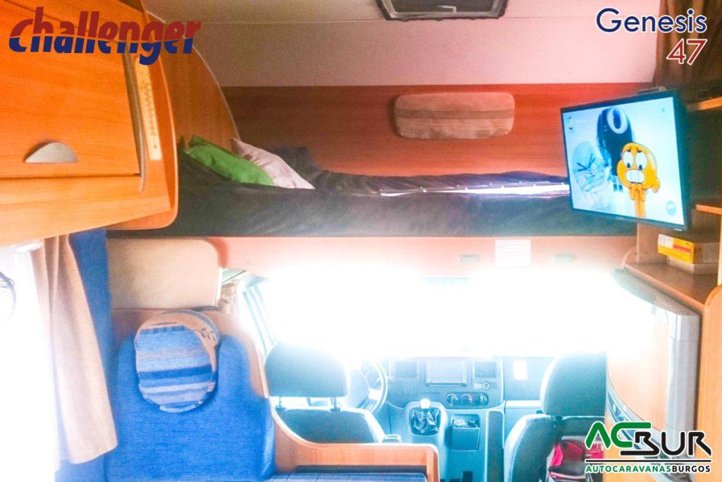 Autocaravana de segunda mano capuchina cama delantera