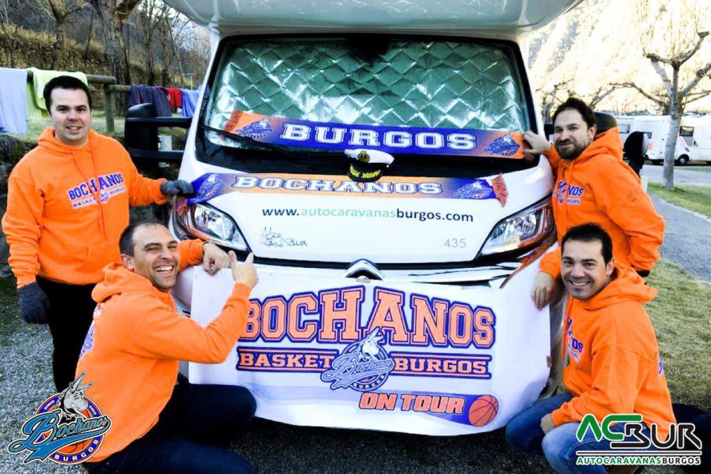 Bochanos va al Baloncesto en Autocaravanas Burgos
