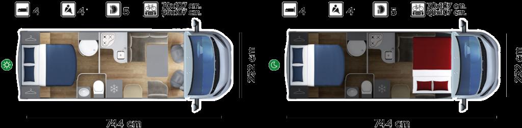 Autocaravana GiottiLine GL938 2020 planos