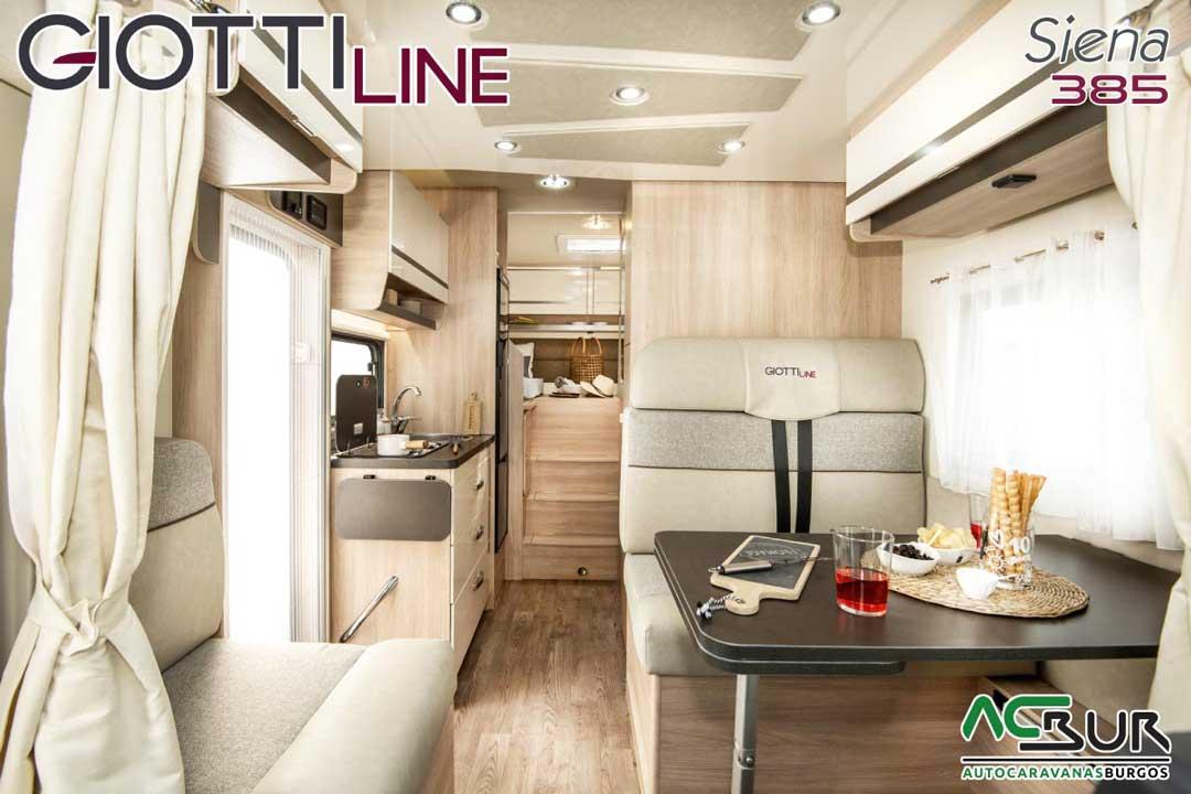 Autocaravana GiottiLine Siena 385 2020 salón