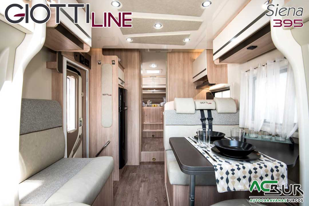 Autocaravana GiottiLine Siena 395 2020 salón