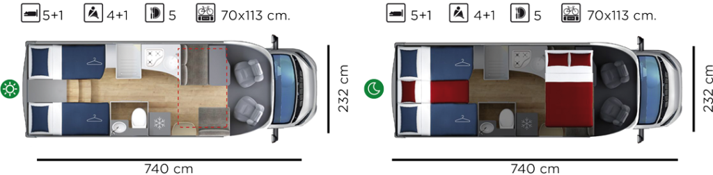 Autocaravana GiottiLine Siena 395 2020 plano