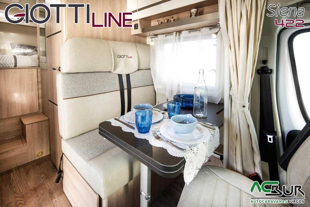 Autocaravana GiottiLine Siena 422 2020 comedor