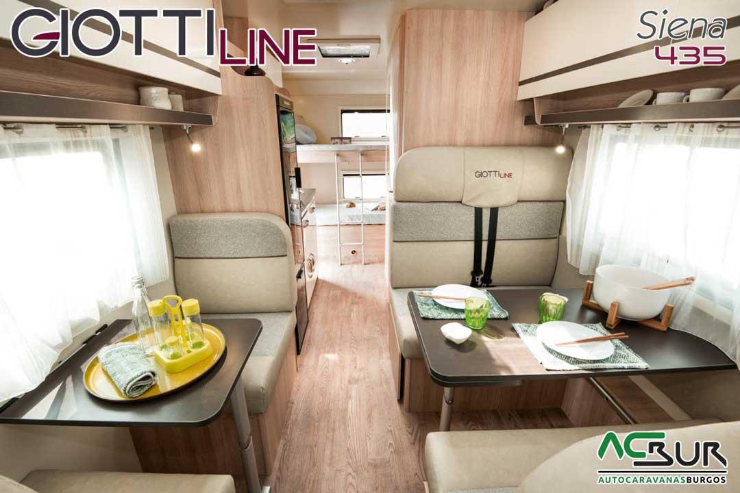 Autocaravana GiottiLine Siena 435 2020 salón