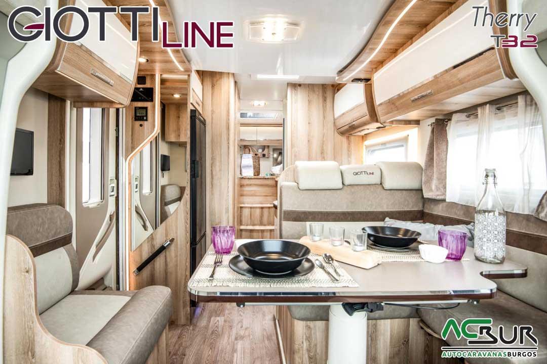 Autocaravana GiottiLine Therry T32 2020 salón