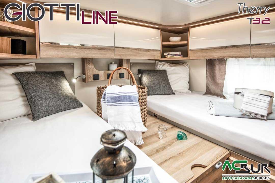 Autocaravana GiottiLine Therry T32 2020 dormitorio