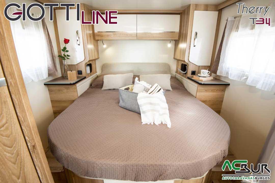 Autocaravana GiottiLine Therry T34 2020 dormitorio