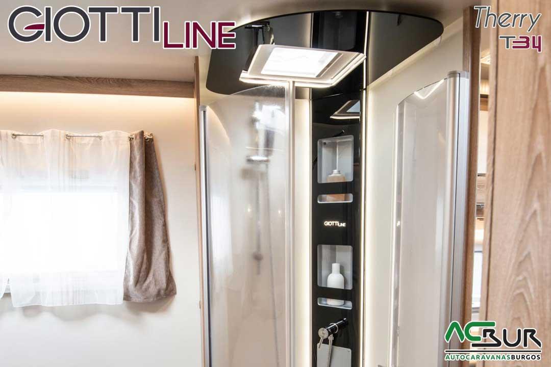 Autocaravana GiottiLine Therry T34 2020 baño dormitorio