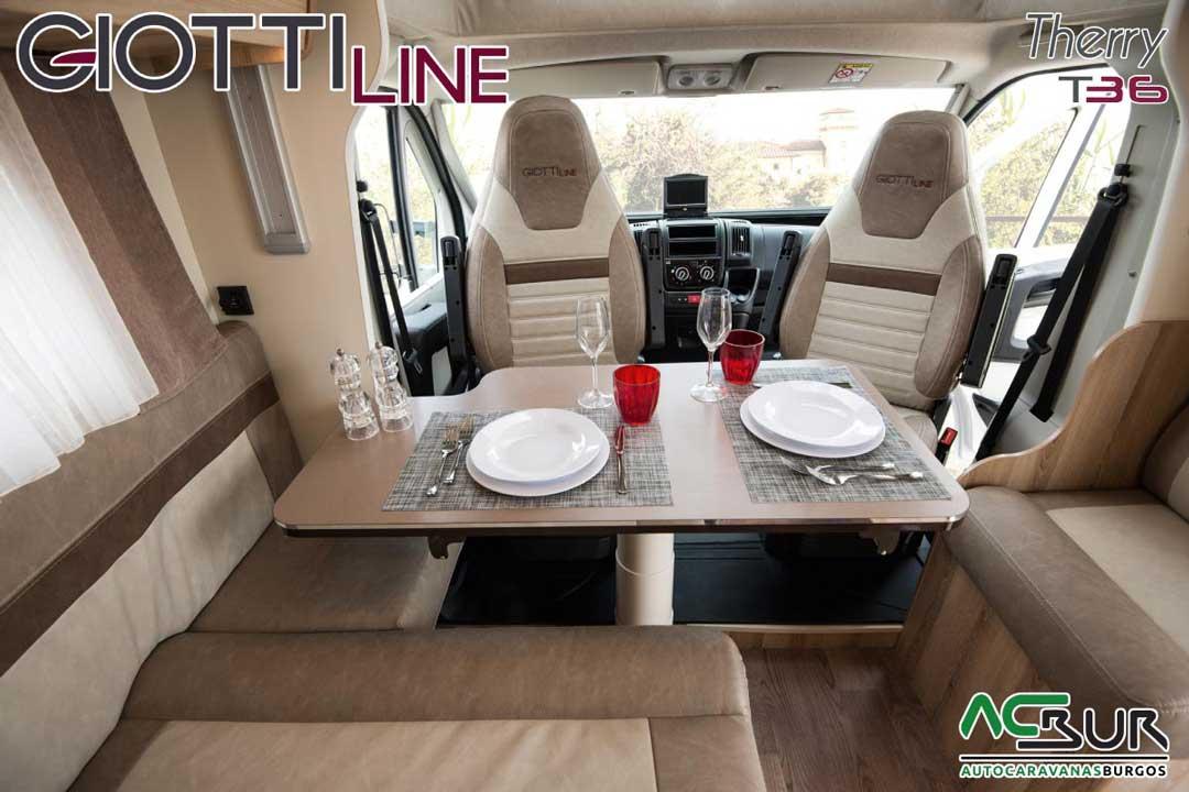Autocaravana GiottiLine Therry T36 2020 comedor