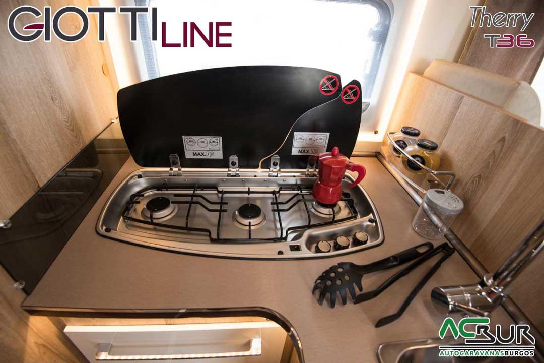 Autocaravana GiottiLine Therry T36 2020 fogones
