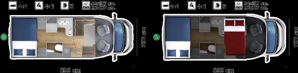 Autocaravana GiottiLine Therry T36 2020 plano