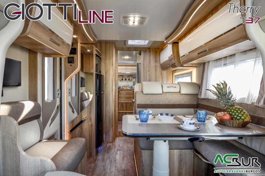 Autocaravana GiottiLine Therry T37 2020 salón