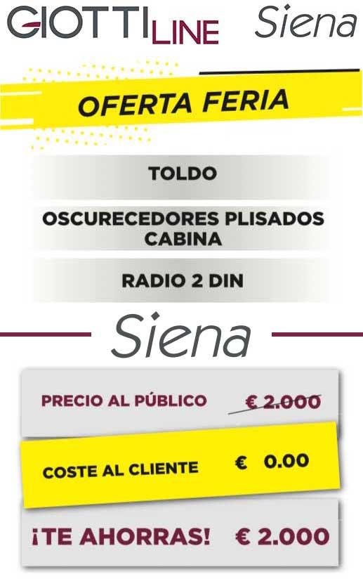 Salón Caravaning Barcelona 2019 oferta Siena