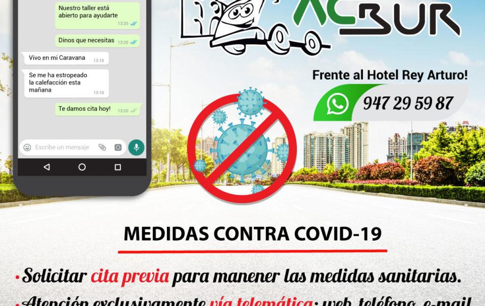 Coronavirus Autocaravanas Burgos