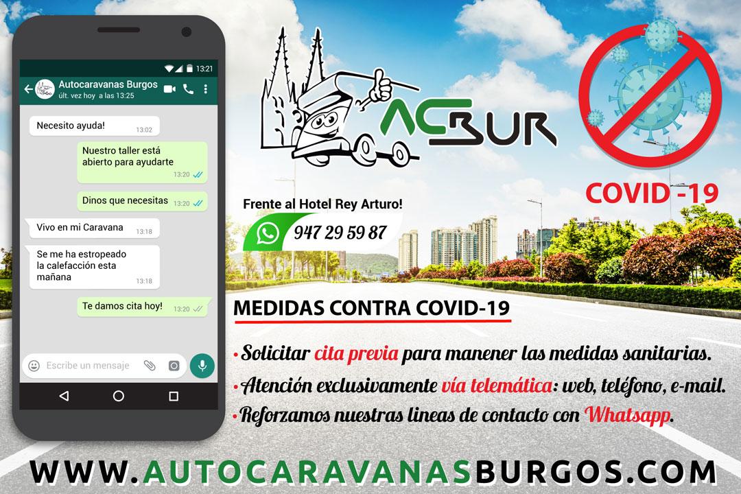 Coronoavirus Autocaravanas Burgos