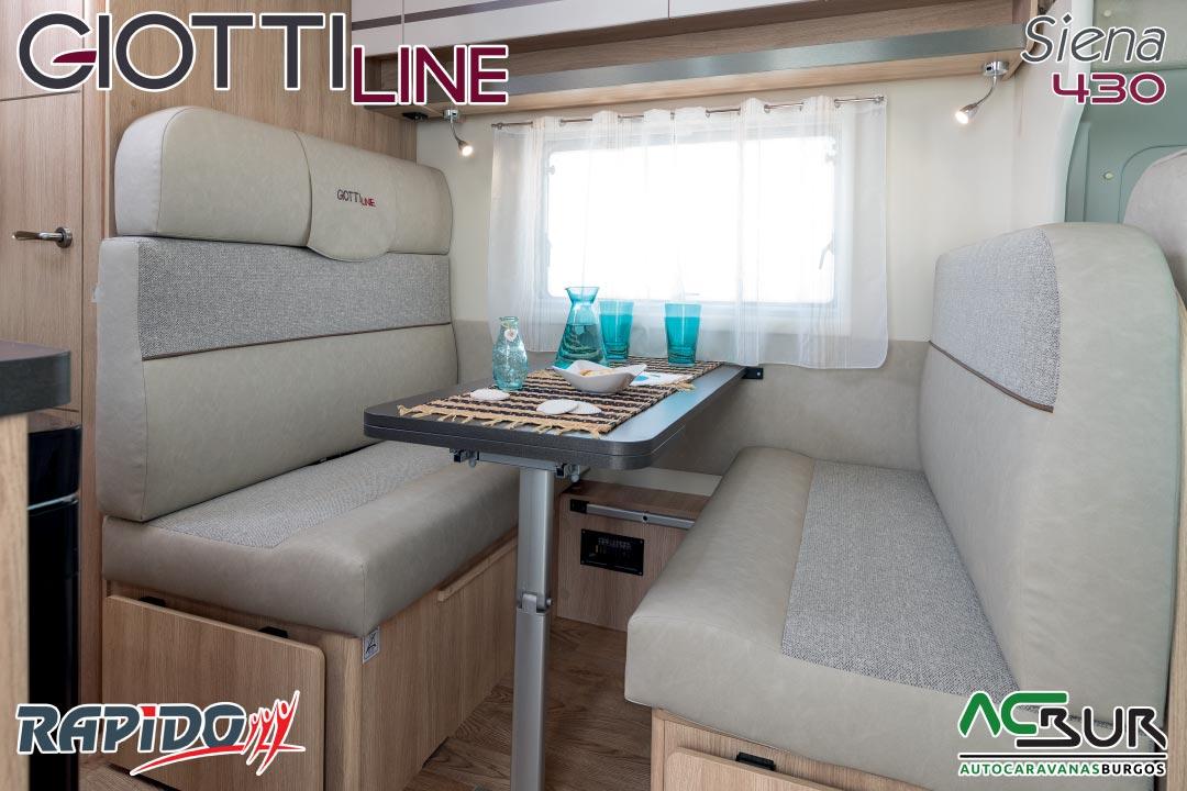 Autocaravana GiottiLine Siena 430 2021 comedor